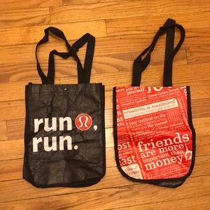 Lululemon 2 small 9 \ 11 inch shopping bags